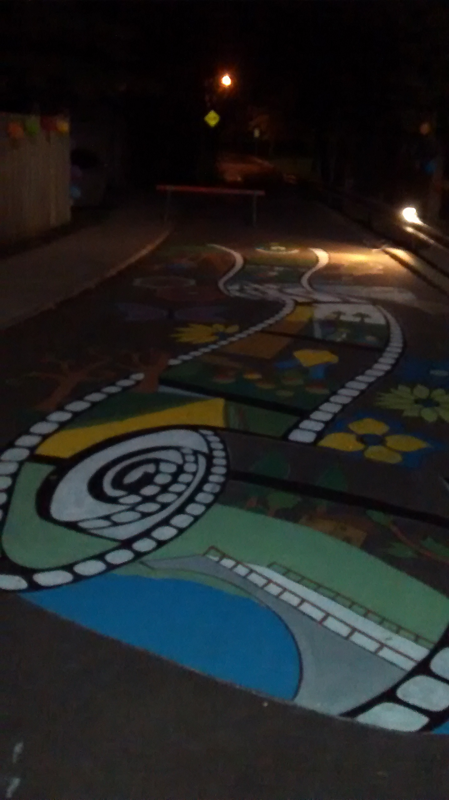 2016 Road Mural Nighttime